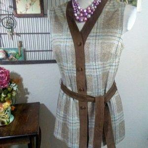 Vintage Woven Vest 1970's
